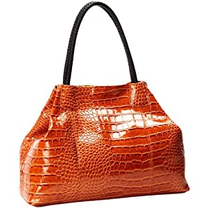 BIG BUDDHA Gisele Satchel Handbag,Cognac,One Size