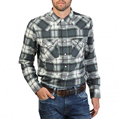 Camicie Uomo Lee L851DNMZ Grigio