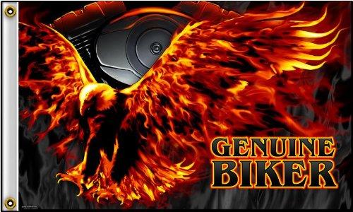 NEOPlex 3' x 5' Flag - Genuine Biker Flaming Eagle