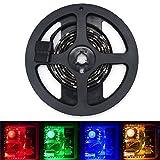 Amazon.co.jpU watch LED RGB テープライト PCケース TV 車 家居 装飾用LEDアクセサリ シーリングライト  4Pコネクタ (100, 黒テープと青色光)