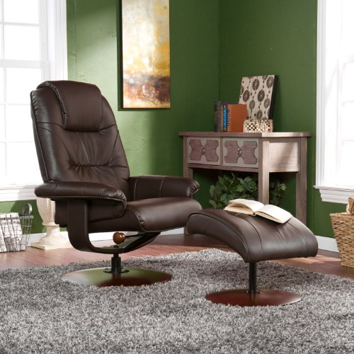Swivel Recliner And Ottoman front-1066086