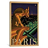 iCanvasART ADG351-1PC3-26x18 World Travel Collection: Paris, France (Notre-Dame de Paris Chimera) Gallery Wrapped Canvas Art Print by Anderson Design Group, 18