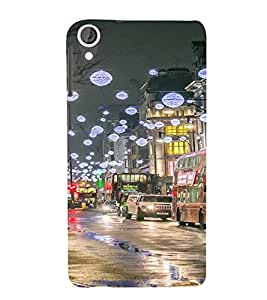 PrintVisa Travel London Festival Design 3D Hard Polycarbonate Designer Back Case Cover for HTC Desire 820