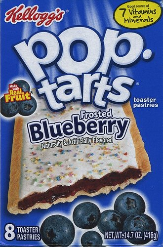 Kelloggs Pop Tarts Frosted Blueberry 416g