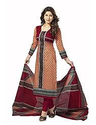 Samskruti Unstiched Cotton Printed Dress Material - B00PQXRY9Q