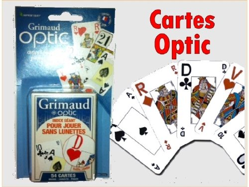 54 cartes OPTIC sous blister