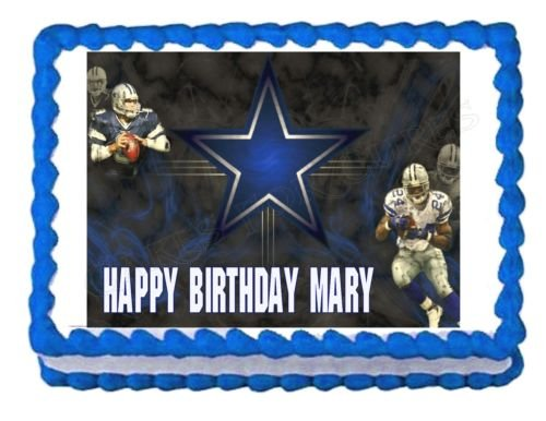 DALLAS COWBOYS FOOTBALL party edible cake image cake topper frosting decoration (Different Spiderman Costumes)