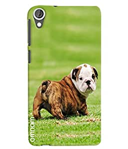 Omnam Beautiful Puppy Playing In Grass Printed Designer Back Cover Case For HTC Desire 820
