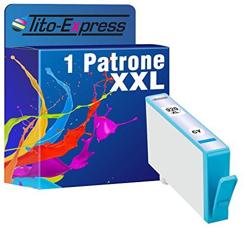 PlatinumSerie® 1x Druckerpatrone XXL mit Chip und Füllstandsanzeige kompatibel zu HP 920 XL Cyan für HP OfficeJet 6500,HP OfficeJet 6500 Wireless,HP OfficeJet 6000,HP OfficeJet 6000 Wireless,HP OfficeJet 7000,HP OfficeJet 7500 A Wireless,HP OfficeJet 7000 special Edition,HP OfficeJet 6500 A,HP OfficeJet 6500 A Plus,HP OfficeJet 7500 A,HP OfficeJet 6000 special Edition
