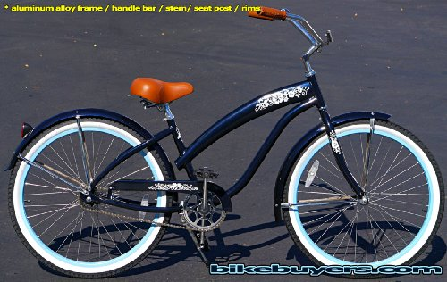 Anti-Rust Aluminum frame, Fito Modena Alloy 1-speed Midnight Blue Women's Beach Cruiser Bike Bicycle Micargi Schwinn Nirve Firmstrong style