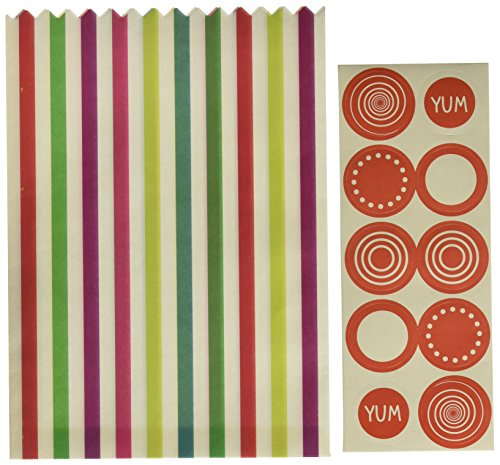 Talking Tables Mix and match Lot de 10 sachets à confiseries multicolore