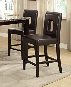 amazon     bar stools counter height dark brown leather