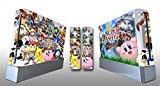 Nintendo wii Console Skin and 2 New Remotes Set Sticker - wii Console Super Mario Dream Team Mario Stickers by Geek Skin