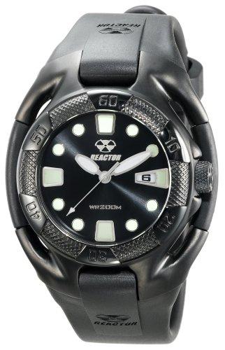 REACTOR Men's 71501 Heavy Water Black Coral Dial Polyurethane Strap Watch