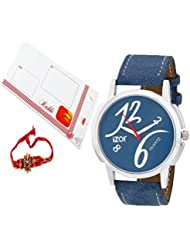 Rakshabandhan Gift For Brother, Blue Dial Analogue Casual Wear Stylish Watch With FreeRakhi (Rakhi Designs May...