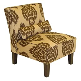 Product Image Diamond Upholstered Chair-Bark