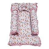 Amardeep Toddler Mattress 89X53 Cms Teddy Print 0-6 Months (Pink)