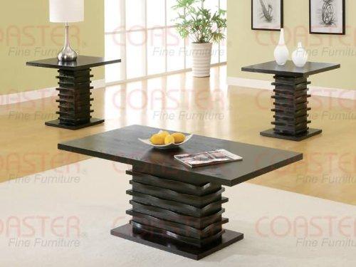 Coaster Home Furnishings 701514 3-Piece Contemporary Living Room Set, Black