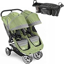 Baby Jogger 87174CONSOL City Mini Double - Green-Gray w Parent Console