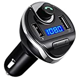Criacr Bluetooth FM Transmitter, Wireless In-Car FM Transmitter Radio Adapter Car Kit, Universal Car Charger with Dual USB Charging Ports, Hands Free Calling for iPhone, Samsung, etc.