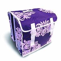 Basil Blossom Double Bike Bag (Purple)