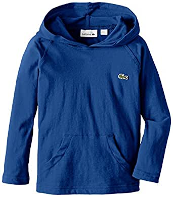 Lacoste little boys 39 long sleeve jersey hooded for Boys long sleeve shirt with hood