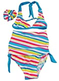 Number One Girls Toddler Girls Stripe Bikini Rashguard Set