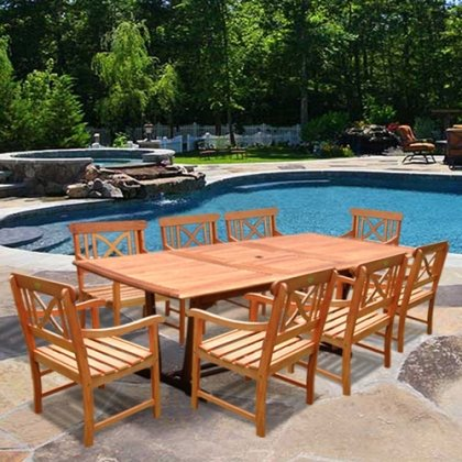 Patio 9 Piece Dining Set photo