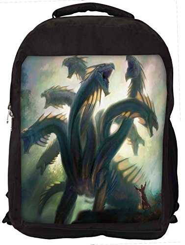 Snoogg Multi Head Dragons Laptop Backpack Casual School Backpack
