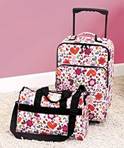2-Pc. Kids Luggage Bag Set - Hearts