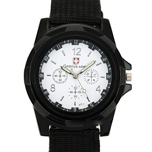 Dayan Men'S Sports Watch Analog Watches Alloy Dial Military Wristwatch Fabric Strap Black