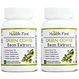 Health First Green Coffee Bean Extract, 50 % GCA Weight Loss Supplement, 800 Mg, 120 Capsules