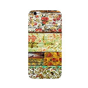 RICKYY _ip6S_1155 Printed matte designer Flowers on the wood case for Apple iPhone 6s