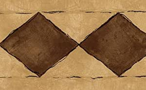 Brown Diamond Wallpaper Border
