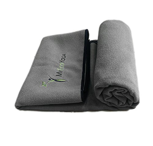 Extra Large Hot Yoga Towel | 2.5 x 6.25 feet | Eco Friendly | Ultra Absorbent | Microfiber: 80% Recycled Polyester 20% Nylon | Machine Washable | Made to Fit XL MyEcoYoga Mat | MyEcoYoga Towel (Gray) (Protect Yo Neck compare prices)