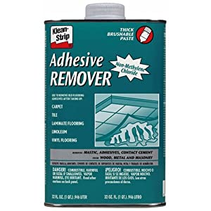 Floor tile adhesive remover