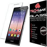 TECHGEAR® Huawei Ascend P7 GLASS Edition Genuine Tempered Glass Screen Protector Guard Cover (Ascend P7)