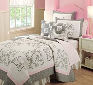Greenland Home Scottie Bonus Quilt Set, Full/Queen