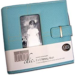All My Memories Urban Chic 6x6 Memory Album - Blue