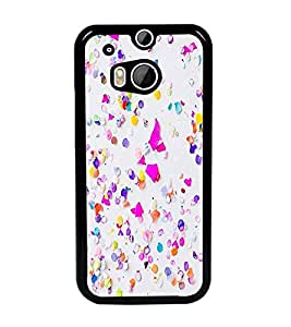 PrintDhaba Pattern D-1164 Back Case Cover for HTC ONE M8s (Multi-Coloured)