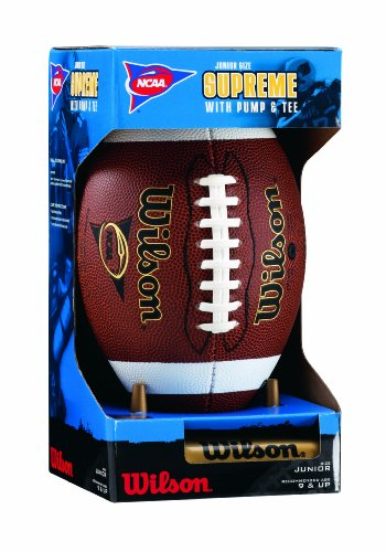 Wilson NCAA Supreme W Pump & Tee (Junior) Football by Wilson