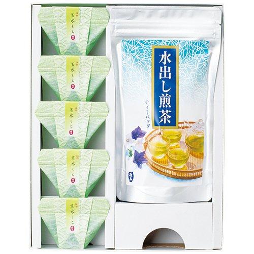 お茶の升半 735-076 抹茶葛水もちと銘茶の詰合せ(MK-20)