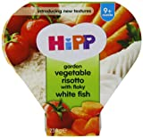 Hipp Garden Vegetable Risotto with Flaky White Fish Tray Meal Stage 3 from 9 Months 230 g (Pack of 5)