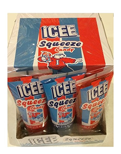 ICEE SQUEEZE CANDY 12 PACK 2.1oz tubes (Cherry & Blue Raspberry Flavors) (Cherry Icee compare prices)
