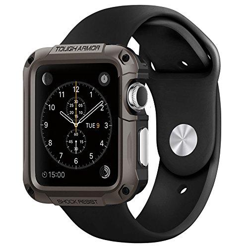 Apple Watch ケース, Spigen® [エアクッションテクノロジー] タフ・アーマー アップル ウォッチ (42mm) 【国内正規品】(2015) (ガンメタル【SGP11504】)