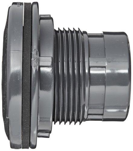 Spears series pvc bulkhead tank adapter gray