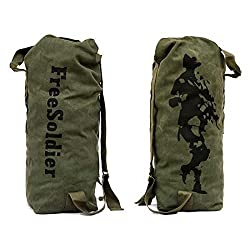 Free Soldier Outdoor Mountaineering Backpack Rucksack Canvas Climbing Travel Bag
