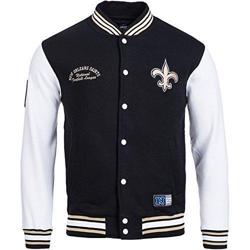 Majestic Nuovo Orleans Saints Senell Calcio Letterman NFL Felpa - Nero, S