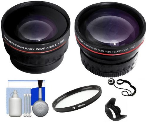 Essential Accessory Kit Includes: 2X Telephoto And 0.43X Wide Angle High Definition Lenses + Lens Hood + 52Mm Uv Filter + Lens Cap Keeper + 5 Piece Cleaning Kit For Nikon Dslr D5100 D3100 D40 D60 D90 D3000 D5000 D7000