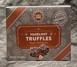 Whole Foods Hazelnut Truffles Dipped in the Dark Chocolate